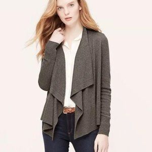 Ann Taylor Cashmere Blend Waterfall Sweater Shaw S